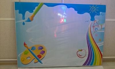 """Яркий магнитный стенд для школы """"Наше творчество"""""""